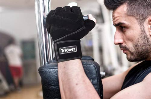 Trideer Padded Weight Lifting Gloves - Exercise Gloves for Weight Lifting