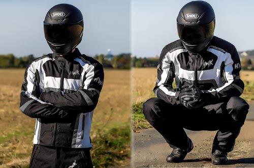 HWK Men's Motorcycle Jacket - Waterproof Motorbike Biker Riding Jacket