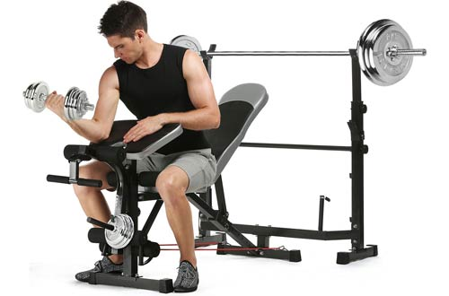 Tomasar Olympic Weight Benches with Preacher Curl