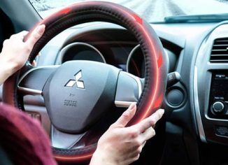 Zone Tech 12V Heated Car Steering Wheel Covers
