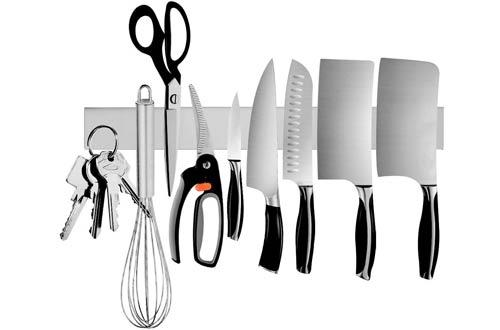 OuddyStainless Steel Magnetic Knife Block - Magnetic Knife Rack for Kitchen Utensil Holder