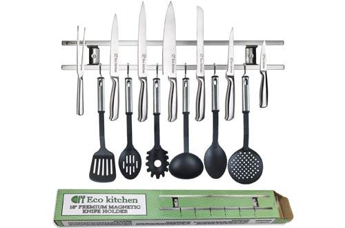 EcoKitchen Magnetic Knife Holders - Wall Knife Magnet - Magnetic Knife Rack Bar