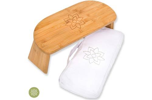Mindful & Modern Folding Meditation Benches -Ergonomic Bamboo Yoga Stool