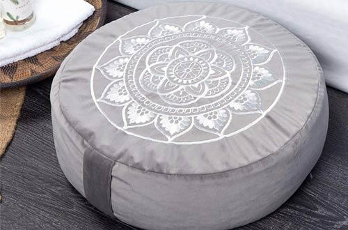 Florensi Large Meditation Cushions - Velvet Meditation Pillow & Premium Yoga Pillow for Women and Men