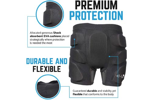 Bodyprox 3D Protective Padded Shorts for Hip, Butt and Tailbone
