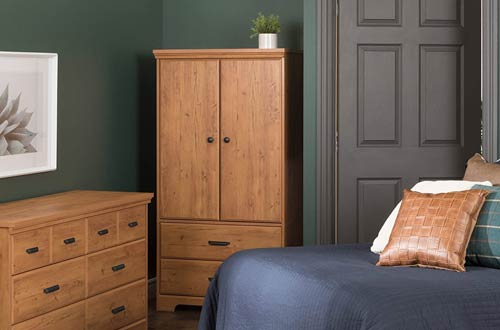 South Shore Versa 2-Door Bedroom Armoires with Drawers