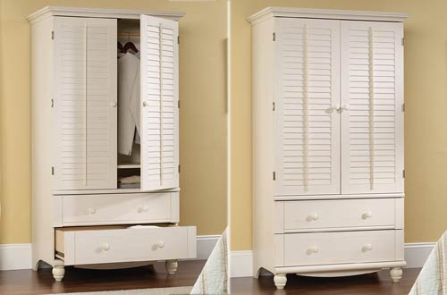 Sauder Harbor View Wood Bedroom Armoires for Sale