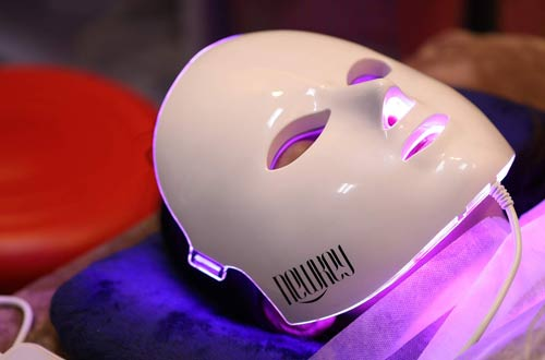 NEWKEY LED Face Maskswith Clinically Proven Blue & Red Light Treatment Acne Photon Mask