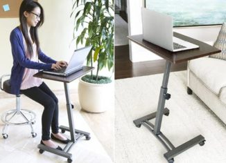 Seville Classics Solid-Top Rolling Laptop Carts