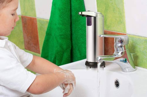 iquid Hands-Free Soap Dispenser