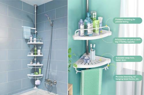 ADOVEL Corner Shower Caddies with Shower Shelves