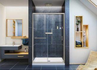 DreamLine Infinity-Z Semi-Frameless Sliding Glass Shower Doors