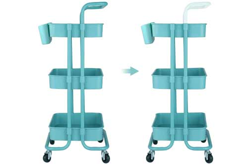 Aalvorog 3-Tier Rolling Utility Carts