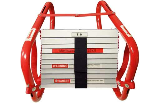 Hausse Retractable 25 Feet 3-Story Fire Escape Ladders
