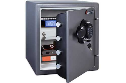 SentrySafe Fireproof Safe and Waterproof Safe with Digital Keypad