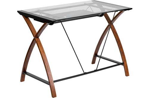 lash Furniture Glass Computer Desk