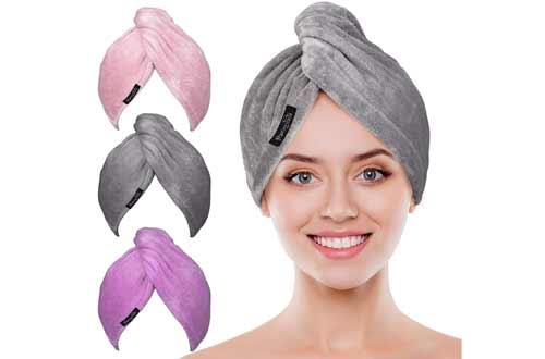 POPCHOSEFast Drying Hair Turban Soft for Women