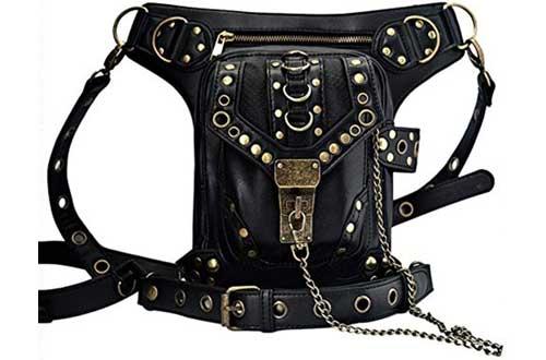 UIYTR SteampunkGothic Goth Shoulder Waist Drop Leg Bags